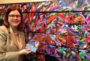 Dr Susan Fisher uses her 84 piece PuzzleArt WallWorks