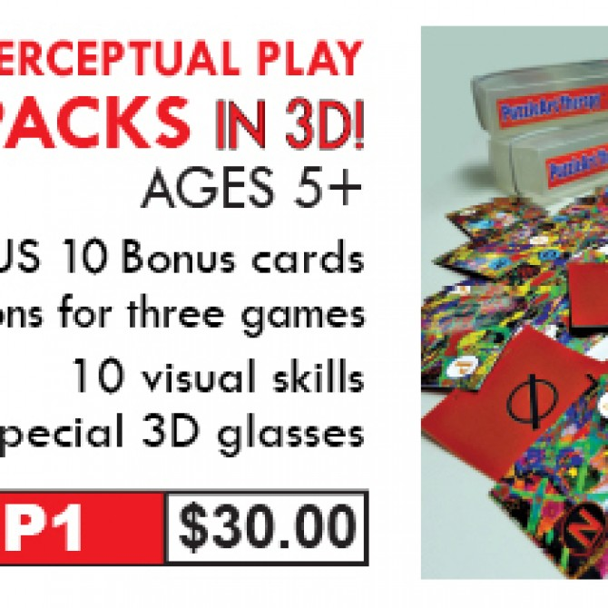 PuzzleArt Perceptual Play Card Packs in 3D!