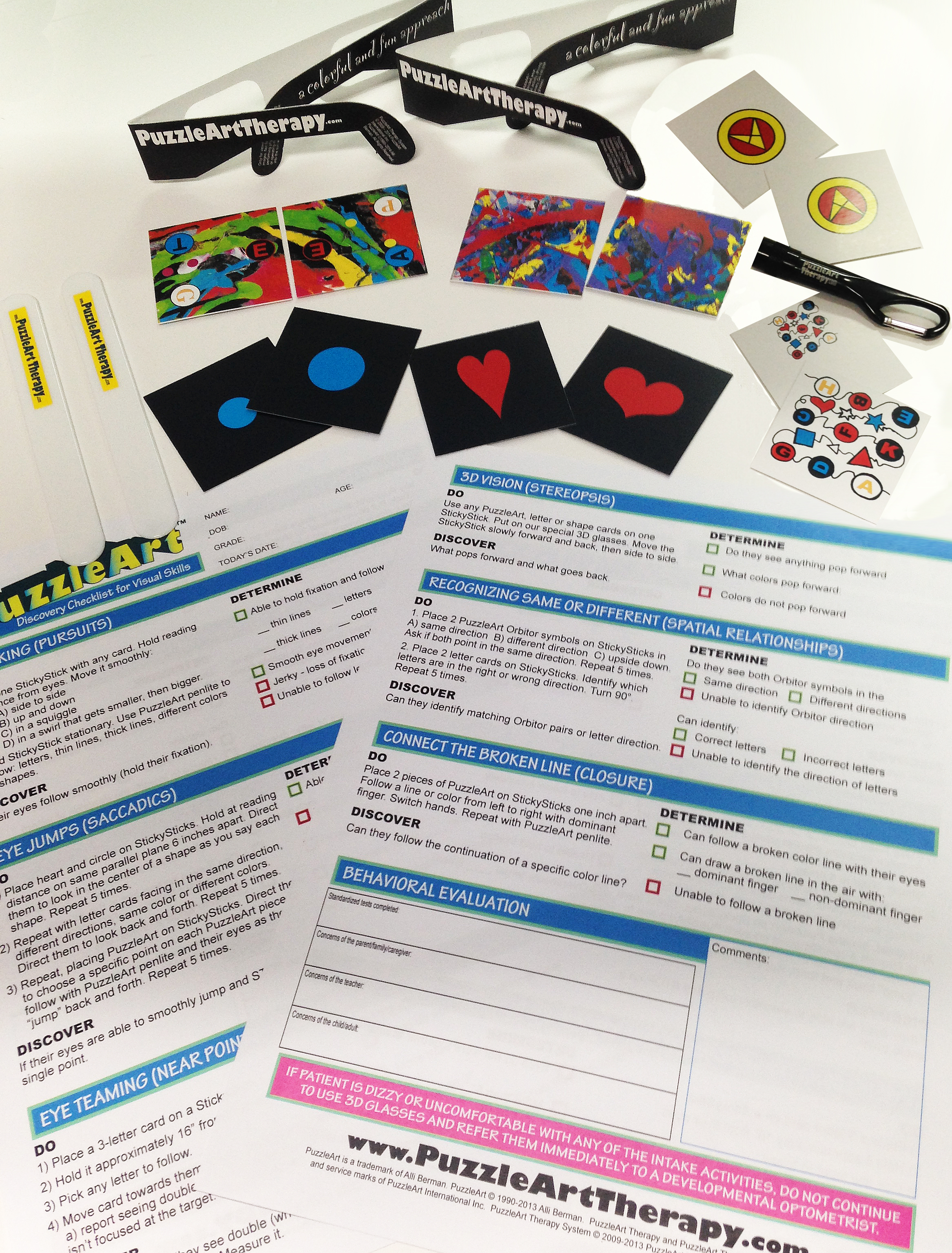 PuzzleArt Therapy Discovery ToolKit - Visual Skills Screening ...