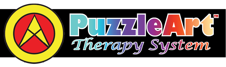 PuzzleArt Therapy System Rainbow Logo with Orbitor