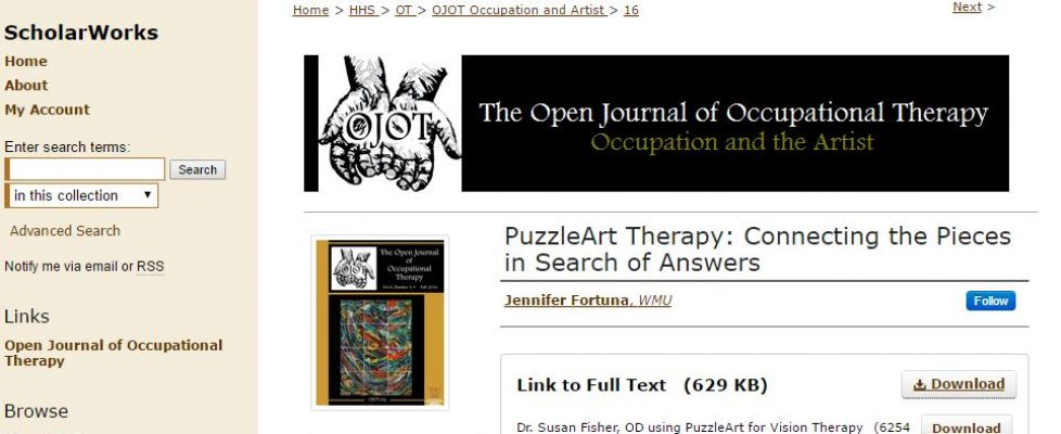 PuzzleArt Featured in October Issue of OJOT